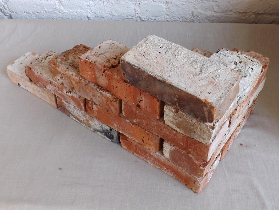 alte Ziegelsteine Klinker Backsteine gebrauchte Mauersteine Antikziegel Verblender historisches Mauerwerk Weinkeller Ruinenmauer Gartensteine Gartenmauer Grill Sommerküche 2