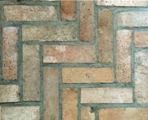 Pflastersteine Bodenziegel mediterran Terrasse Gartenweg alte Mauersteine Mediterran Backstein rustikal