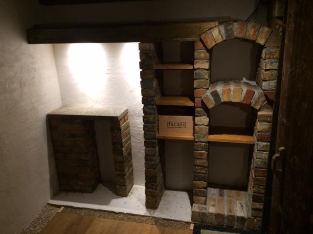 original alte Backsteine used Ziegelsteine als TV Rack Konsole Regal Möbel Gartengarnituren Bücherwand Weinregal 4