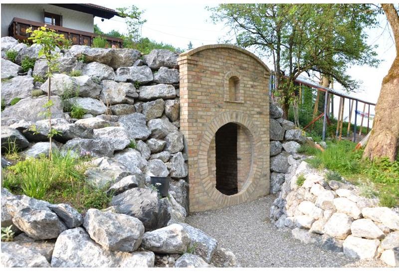 Antike Ziegelsteine rustikale Klinker Verblender alte Mauersteine historisches Mauerwerk mediterran  5