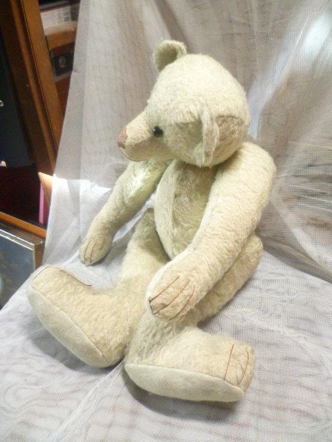 Seltener, antiker Vorkriegs- ausgeprägter ganz besonderer buckeliger Charakter Teddybär  Ein uralter, charmanter Bär wohl um 1920 er Jahre 2