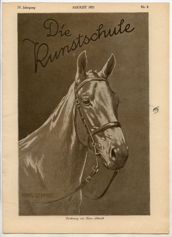 Die Kunstschule IV. Jahrgang August 1921 Nr. 8