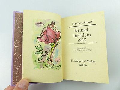 Schwimmer Kritzelbüchlein 1956 Max
