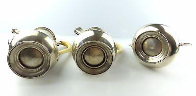 #e5212 Großes 800 (Ag) Silber Kernstück / Service mit Wasserkessel J.C.Klinkosch 6