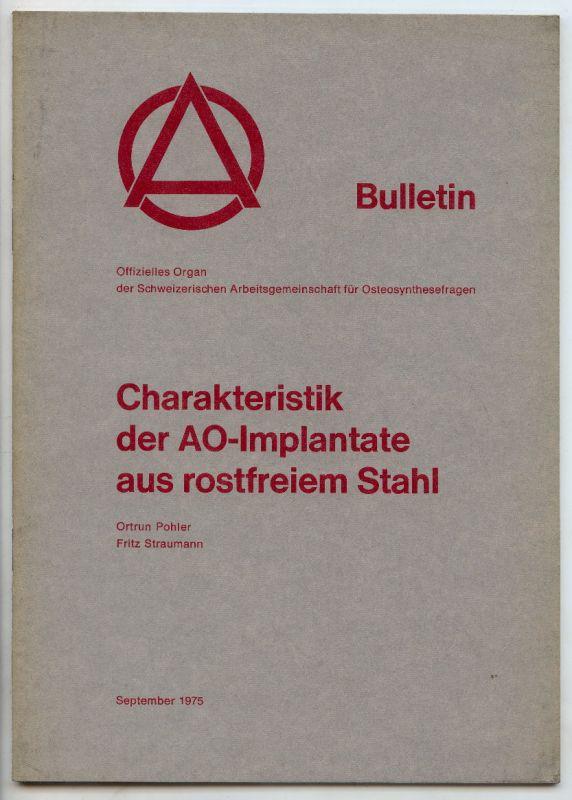 BULLETIN Schweiz Arbeitsgemeinschaft, September 1975