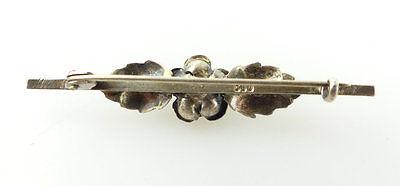 #e2005 Schöne alte Brosche aus 800 (Ag) Silber mit Rose 2