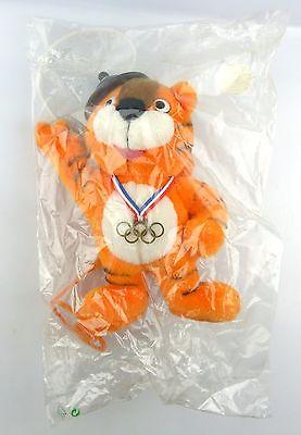 #e5773 Rarität Offizielles OLYMPIA MASKOTTCHEN von Seoul 1988 OVP Tiger HODORI 4