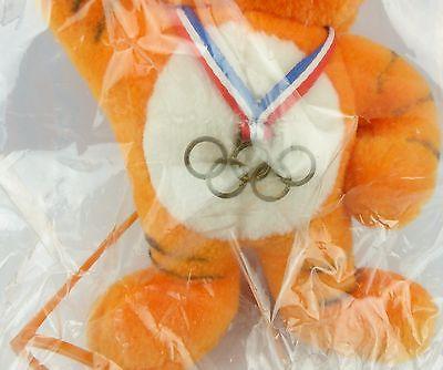 #e5773 Rarität Offizielles OLYMPIA MASKOTTCHEN von Seoul 1988 OVP Tiger HODORI 6