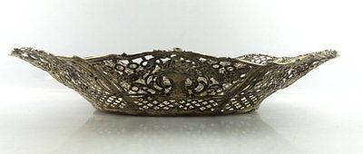 Dekorative Schale in 800er Silber mit Blumendekor und Kindern e1405 2