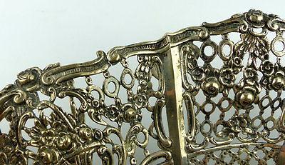 Dekorative Schale in 800er Silber mit Blumendekor und Kindern e1405 7