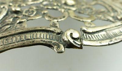 Dekorative Schale in 800er Silber mit Blumendekor und Kindern e1405 8