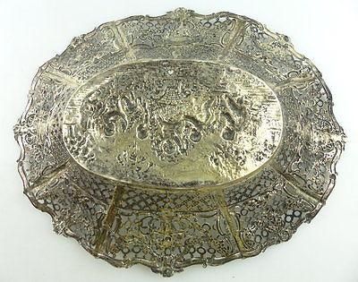 Dekorative Schale in 800er Silber mit Blumendekor und Kindern e1405 9