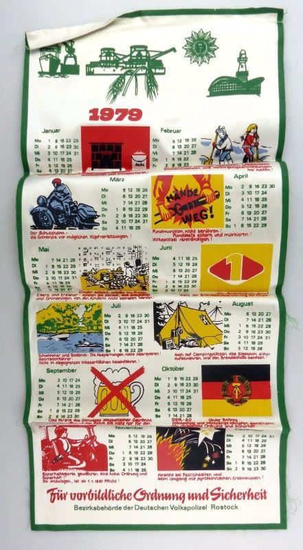 #e7137 Original alter Kalender von 1979 Deutsche Volkspolizei Rostock