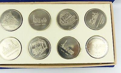 #e7340 Ministerium für Verkehrswesen der DDR 40 Jahre Eisenbahn 8 alte Medaillen 1
