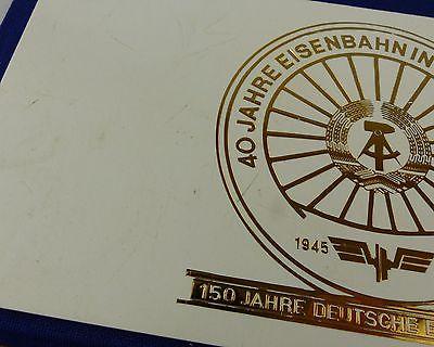 #e7340 Ministerium für Verkehrswesen der DDR 40 Jahre Eisenbahn 8 alte Medaillen 3