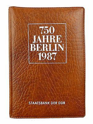 #e7318 Münzsouvenir 750 Jahre Berlin DDR 1987 Staatsbank der DDR 5 Mark Münzen