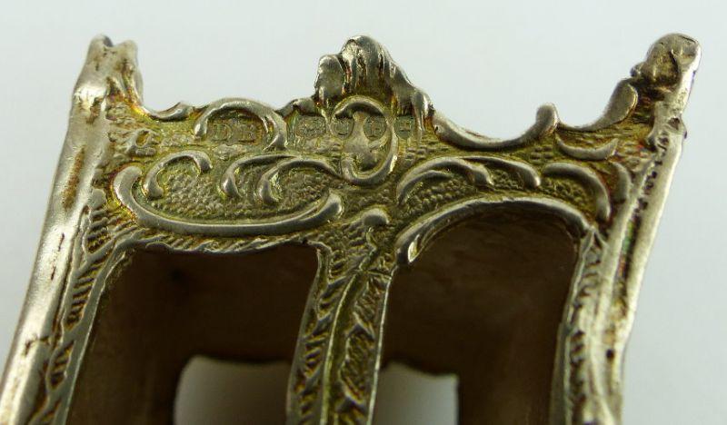 Dekorative Sänfte mit 2 Trägern in 925 Sterling Silber, norb768 6