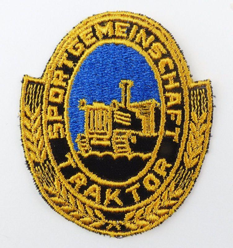 #e7585 1 original alter DDR Aufnäher Sportgemeinschaft Traktor