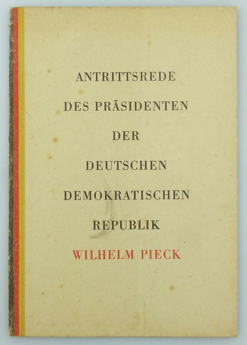 #e7581 Heft: Antrittsrede des Präsidenten der DDR Wilhelm Pieck 11.10.1949