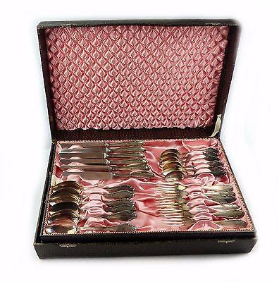 #e7682 48 teiliges versilbertes Besteck mit Koffer 90 in Silberauflage