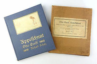 E7666 Buch: Appelschnut von Otto Ernst mit Bildern von Richard Scholz 1911