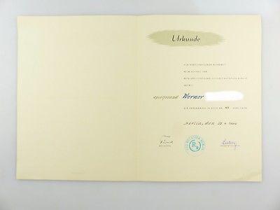 #e7648 Seltene Urkunde zur Ehrennadel aus Nachlass des Zentrag Generaldirektors