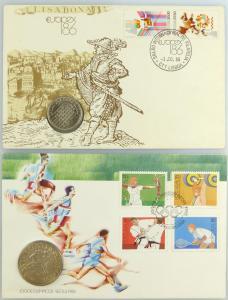 #e7709 2 Gedenkmünzen Europex 1986 und Jogos Olimpicos Seoul 1988