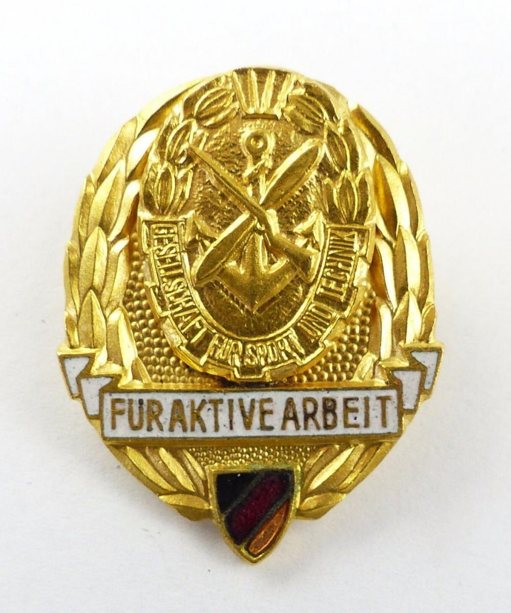 #e7690 Medaille für aktive Arbeit in der GST der DDR vgl. Nr. 11 e 1959-1961
