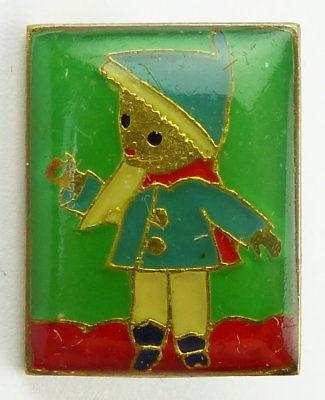 #e7990 Original altes DDR Abzeichen / Anstecknadel Sandmännchen grün
