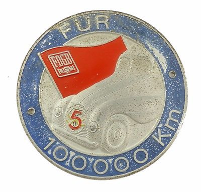 #e7972 Plakette für 100000 km FDGB 5-Jahres-Plan vgl. Band IV Nr. 17