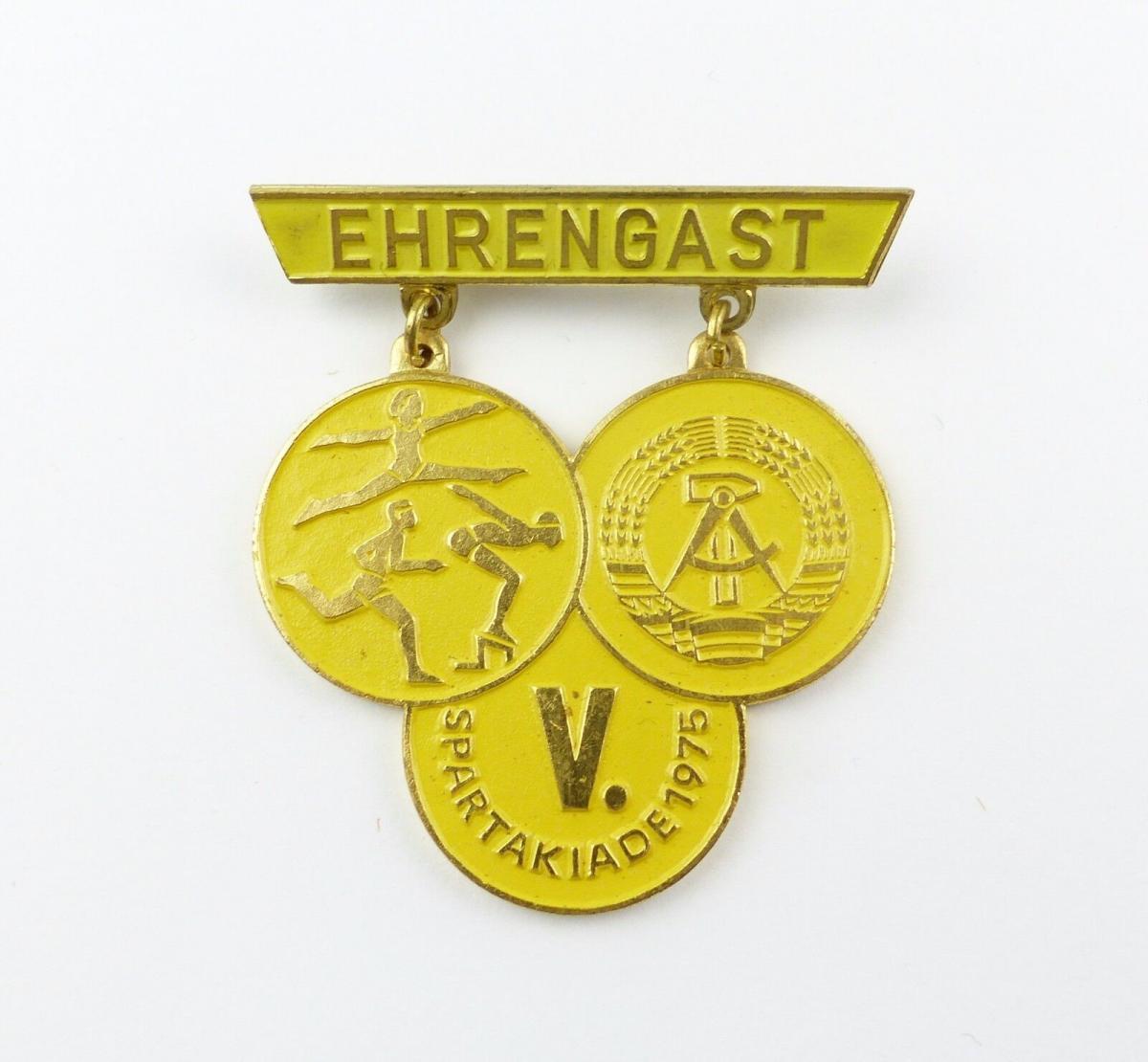 #e7948 DDR Abzeichen Ehrengast der V. Spartakiade 1975