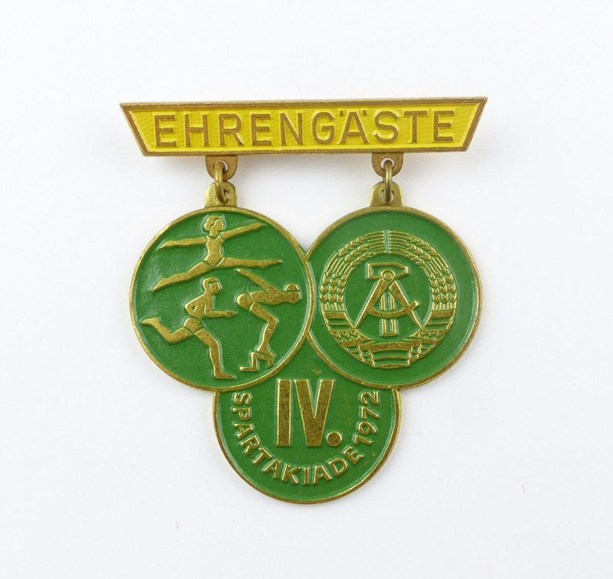 #e7947 DDR Abzeichen für Ehrengäste der IV. Spartakiade 1972