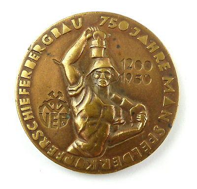 #e7946 Medaille 750 Jahre Mansfelder Kupferschieferbergbau 1200-1950 0