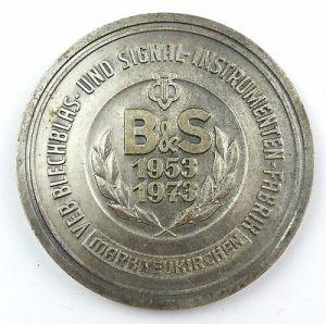 #e7919 DDR Medaille 20 Jahre Klingende Kostbarkeiten aus der DDR 1973