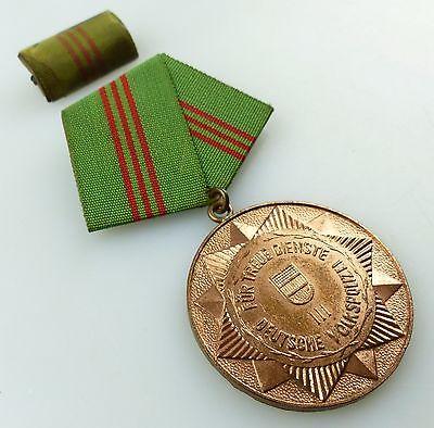 Medaille treue Dienste bewaffneten Organen des MdI Bronze Stufe III ,Orden3283 1