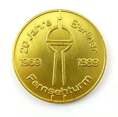#e8064 Medaille Gaststätten am Fernsehturm 20 Jahre Berliner Fernsehturm 1989