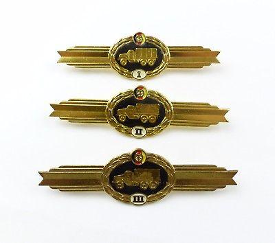 #e8038 3 Klassifizierungsabzeichen für den Kraftfahrzeugdienst 424c, 425c, 426a