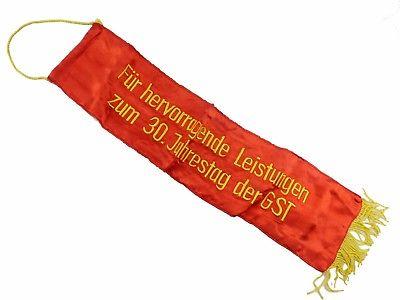 #e8139 Alte Fahnenschleife für hervorr. Leistungen zum 30. Jahrestag der GST