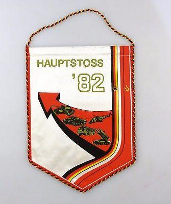 #e8120 Original alter Wimpel Hauptstoss 1982 Klassenbrüder - Waffenbrüder DDR