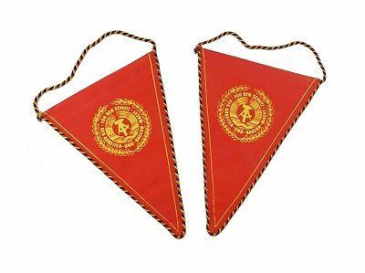 #e8119 2 kleine Wimpel der NVA 20 Jahre Nationale Volksarmee DDR