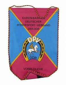 #e8116 Original alter Wimpel Ehrenbanner Deutscher Pferdesport-Verband der DDR