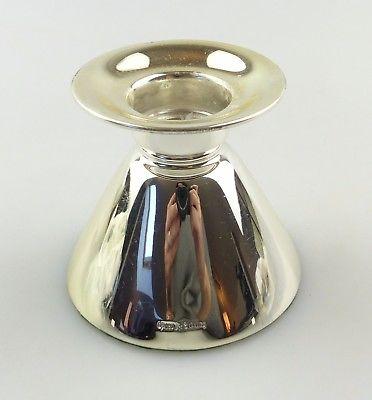 #e8232 Original alter Kerzenhalter aus 925 Sterling Silber mit Füllung