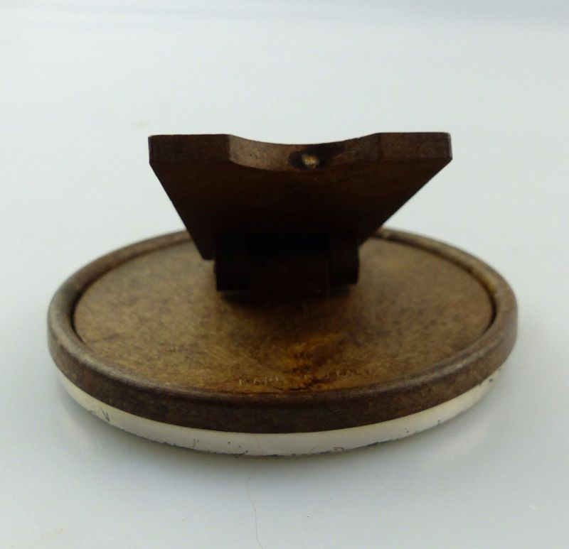e8226 Kleiner runder Bilderrahmen aus 800 Silber und Holz made in ...