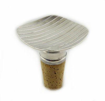 #e8223 Alter Korkenverschluss / Flaschenverschluss aus Kork und 925 Silber WTB