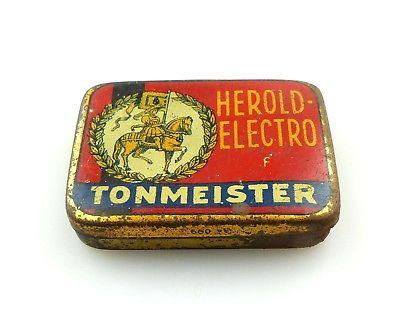 #e8256 Original alte Blechdose Herold - Electro Tonmeister 660 Nürnberg leer