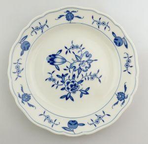 #e8342 Meissen Porzellan Teller 2. Wahl mit Blumenmuster blau weiß