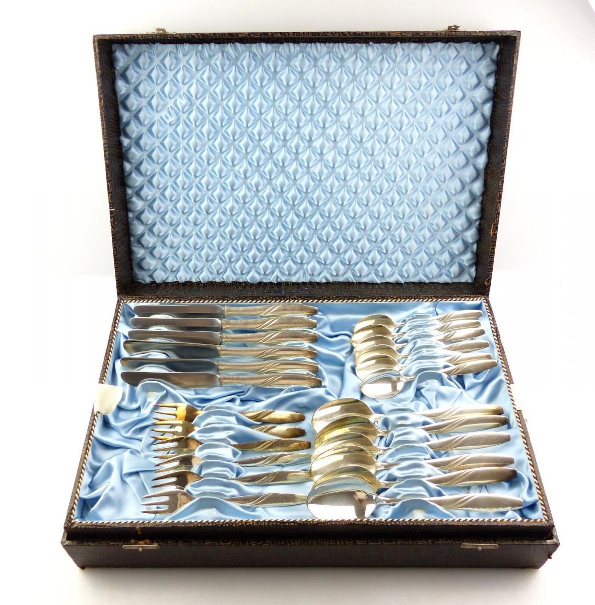 #e8437 48 teiliges Besteck 40er und 60er Silberauflage