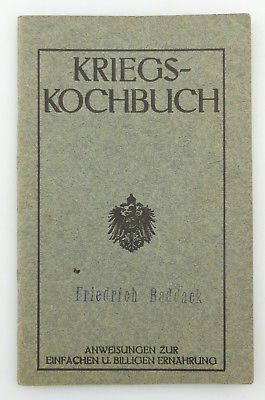 #e8646 Kleines Kriegskochbuch aus dem 1. Weltkrieg 65. Auflage von 1915 selten!