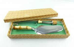 #e8700 3-teiliges DDR Set Tortenheber, Zuckerzange und Schnapsgießer in OVP