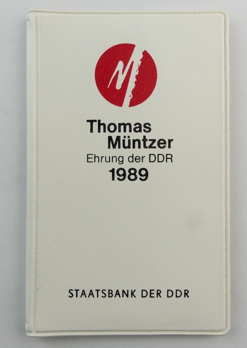 #e8695 5-Mark Gedenkmünzen Thomas Müntzer Ehrung der DDR 1989 Staatsbank